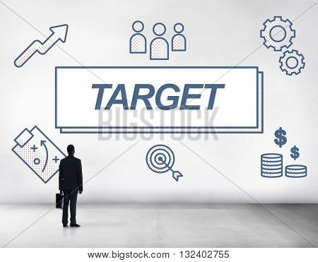 Target Accomplished Reached Goals Graphic Concept