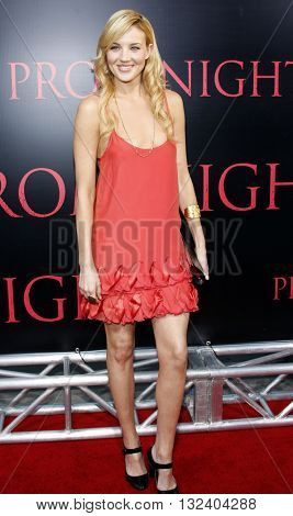 Brianne Davis at the World premiere of 'Prom Night' held at the Arclight Theater in Hollywood, USA on April 9, 2008.