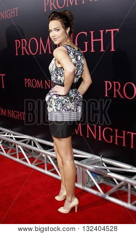 Arielle Kebbel at the World premiere of 'Prom Night' held at the Arclight Theater in Hollywood, USA on April 9, 2008.