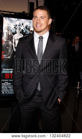 Channing Tatum at the Los Angeles premiere of 'STOP-LOSS' held at the DGA Theater in Hollywood, USA on March 17, 2008.