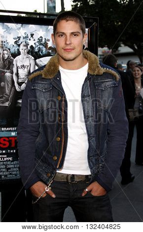 Sean Faris at the Los Angeles premiere of 'STOP-LOSS' held at the DGA Theater in Hollywood, USA on March 17, 2008.