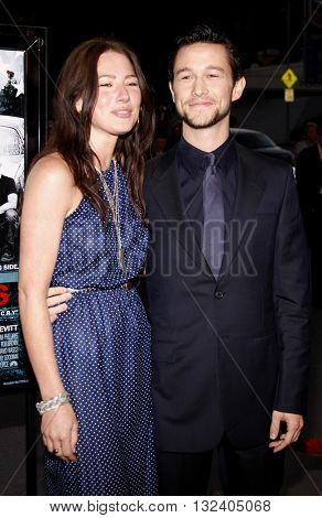 Lynn Collins and Joseph Gordon-Levitt at the Los Angeles premiere of 'STOP-LOSS' held at the DGA Theater in Hollywood, USA on March 17, 2008.