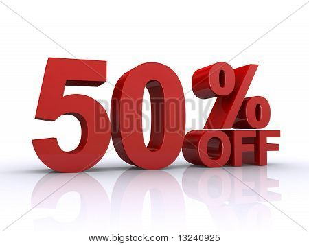 50 Percent Off Discount