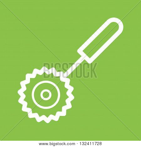 Pizza, cutter, knife icon vector image. Can also be used for kitchen. Suitable for use on web apps, mobile apps and print media.