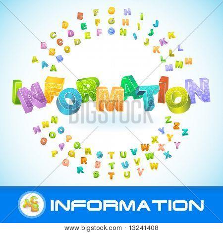 INFORMATION. Vector 3d illustration.