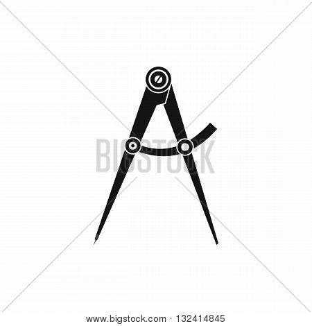 Compass tool icon in simple style isolated on white background