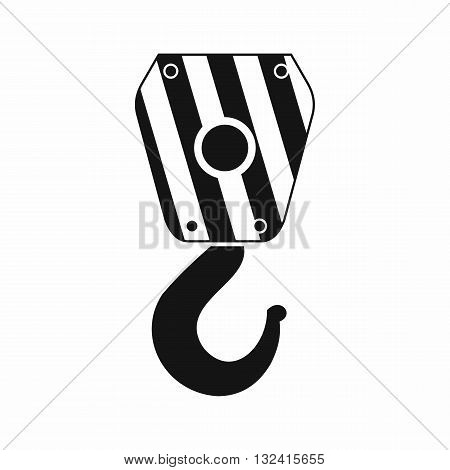Crane hook icon in simple style isolated on white background