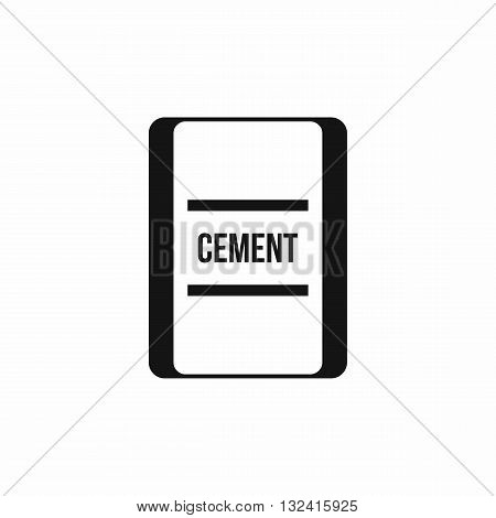 One bag of cement icon in simple style isolated on white background