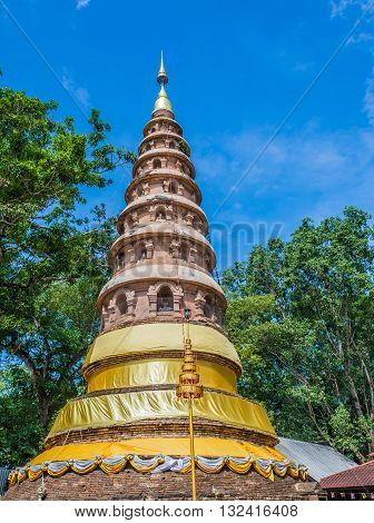 Wat ram poeng pagodaThailand the Buddhist temple in Chiang Mai Thailand.