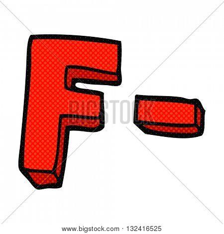 freehand drawn cartoon F grade