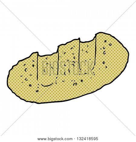 freehand drawn cartoon bread