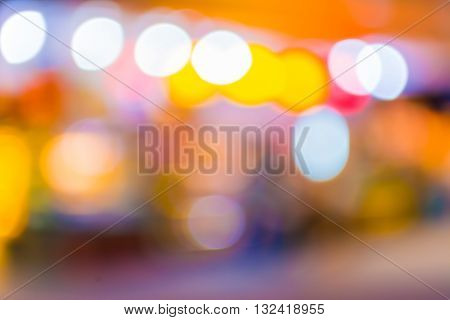 Blurred Abstract Image Of Shopping Mall And People