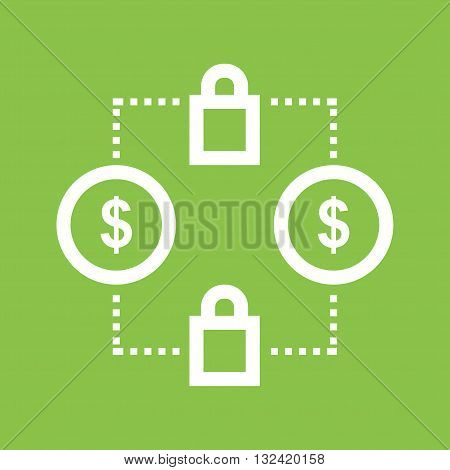 Transaction, transfer, secure icon vector image. Can also be used for digital web. Suitable for web apps, mobile apps and print media.
