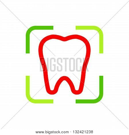 Logo design dental icon tooth medical clinic concept illustration protection oral