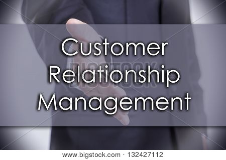 Customer Relationship Management - Business Concept With Text