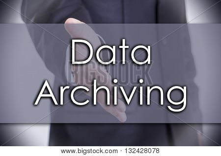 Data Archiving - Business Concept With Text