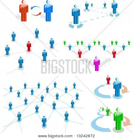 Network concept. Vector illustration.