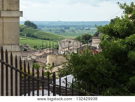 View of France's St. Emilion and the surrounding vineyards
