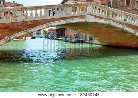 Rialto Bridge On Grand Canal