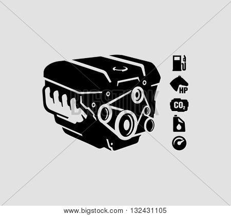 Car Engine Vector