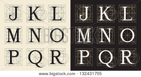 Designing Initials, letters J-R