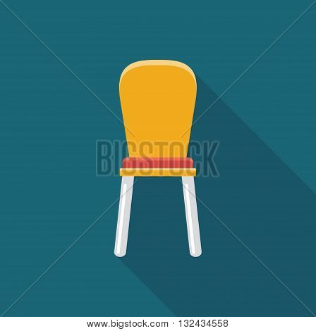 Simple flat icon chair. Vector illustration of furniture