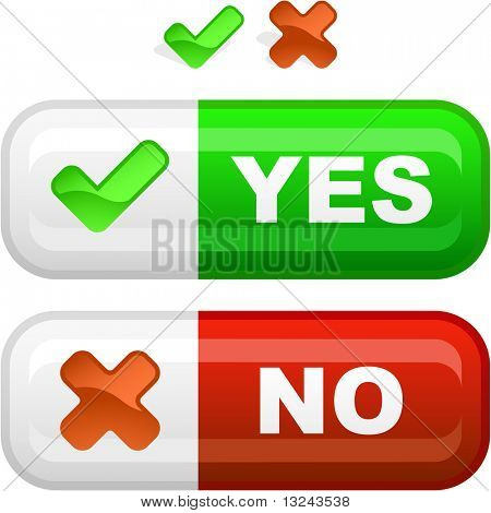 Yes and No button for web.