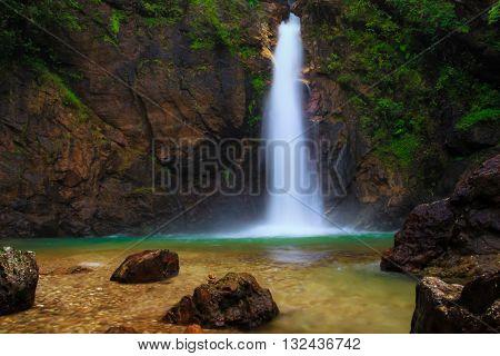 Jogkradin waterfall at Thongphaphum nationalpark in Kanjanaburi province, Thailand