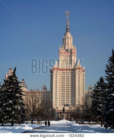 Lomonosov Moscow State University (Main Building, Winter)