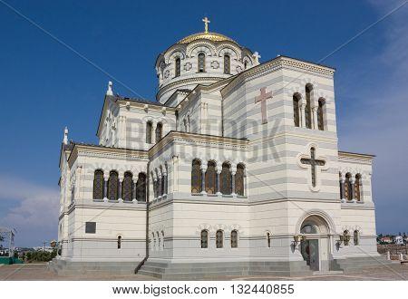 Vladimir Cathedral in the Sevastopol city, Crimea,