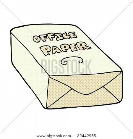 freehand drawn cartoon office paper