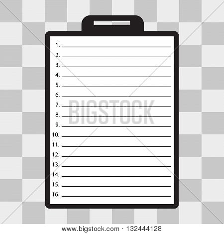 Vector Clipboard with check list on transparent background USA