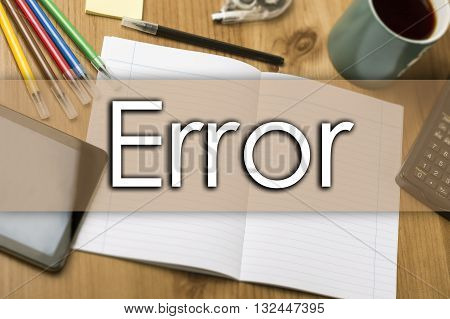 Error - Business Concept With Text