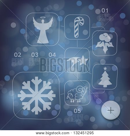 It is a Christmas infographic with unfocused background