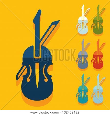 It is a illustration Flat design: violin