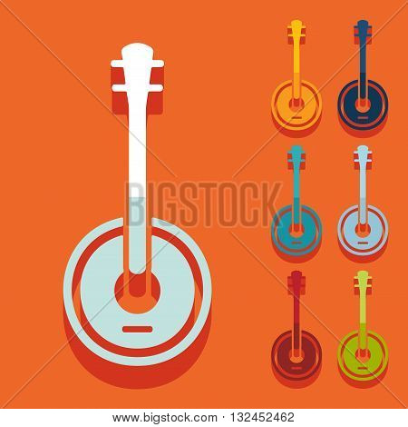 It is a illustration Flat design: banjo