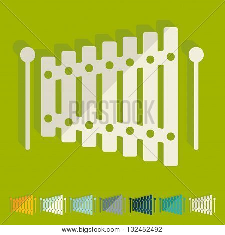 It is a illustration Flat design: xylophone