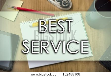 Best Service -  Business Concept With Text