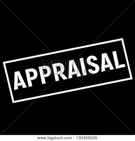 APPRAISAL white wording on rectangle black background