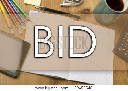 Bid - Business Concept With Text