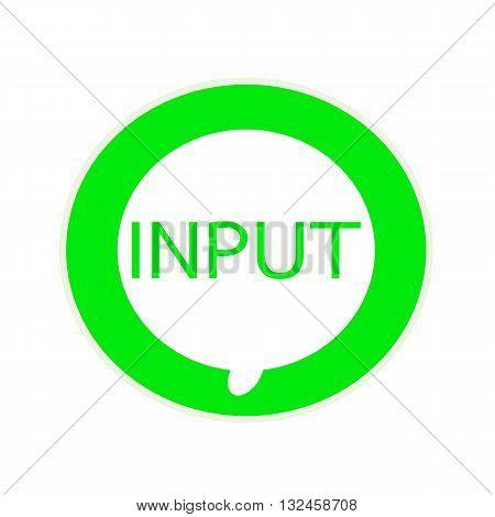 Input green wording on Circular white speech bubble