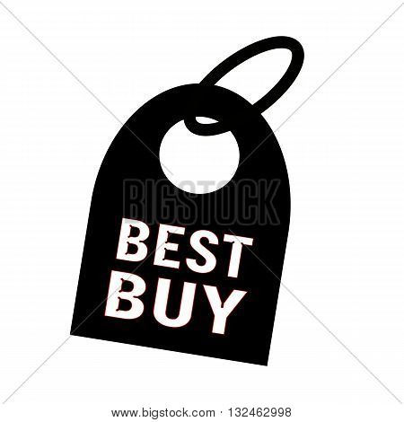 best buy white wording on background black key chain