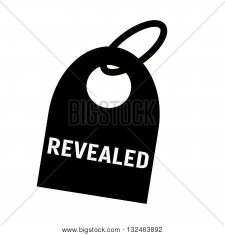 REVEALED white wording on background black key chain