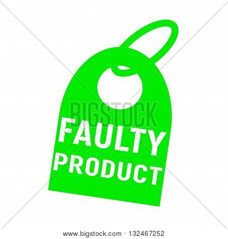 faulty product white wording on background red key chain