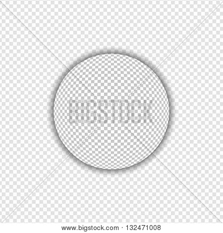 Big Transparent Sphere with Shadow | Design Elements on Isolated Background