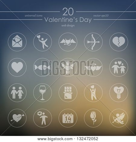 It is a illustration Set of Valentine's Day icons