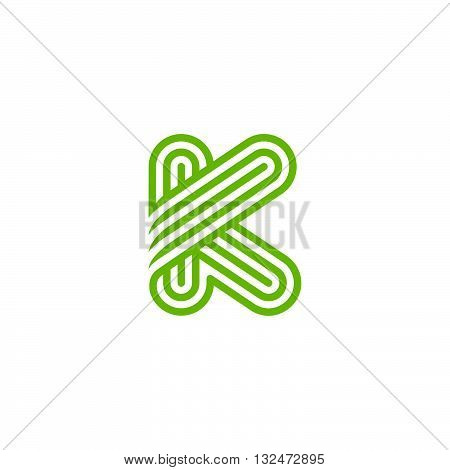Creative Letter K Logo design vector template Linear