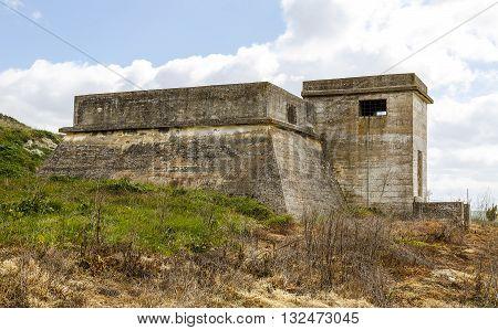Bunker of concrete in Mota del Marques Valladilid Spain
