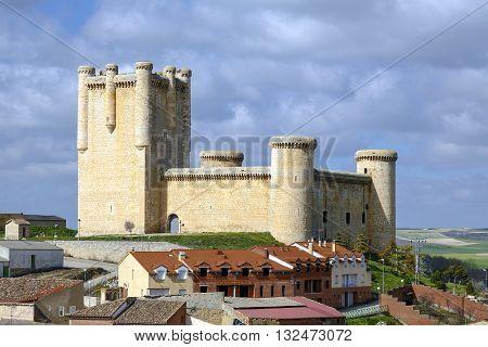Castle Communards Torrelobaton in Valladolid Spain. Declared Historical Heritage in 1949