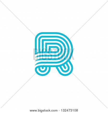 Creative Letter R Logo design vector template Linear
